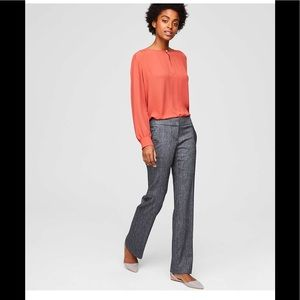 Loft grey trousers with button pockets 00